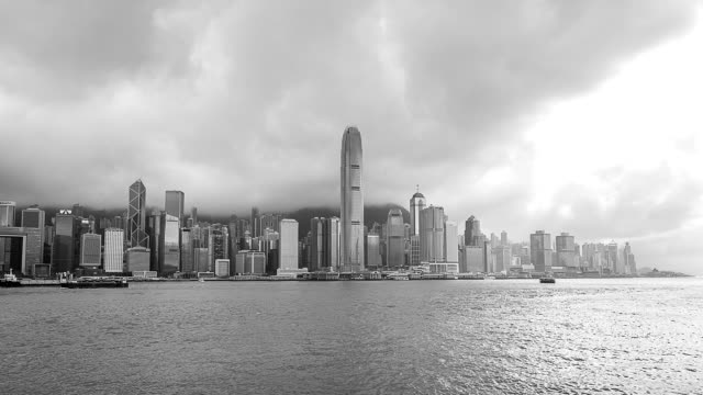 Timelapse cityscape of Hong Kong at evening video