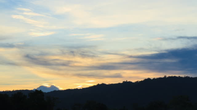 time-lapse: cloud, mountain and twilight, thailand - tilt down stock videos & royalty-free footage