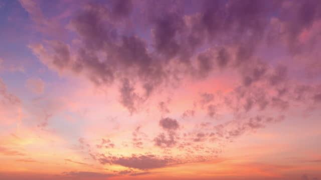 Time-lapse Cloud moving over colorful sky background
