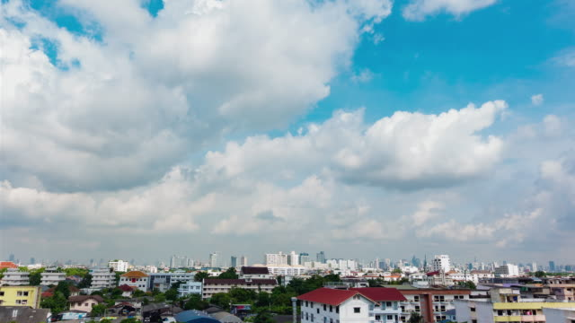 Time-Lapse clouds sky scape of Bangkok city video