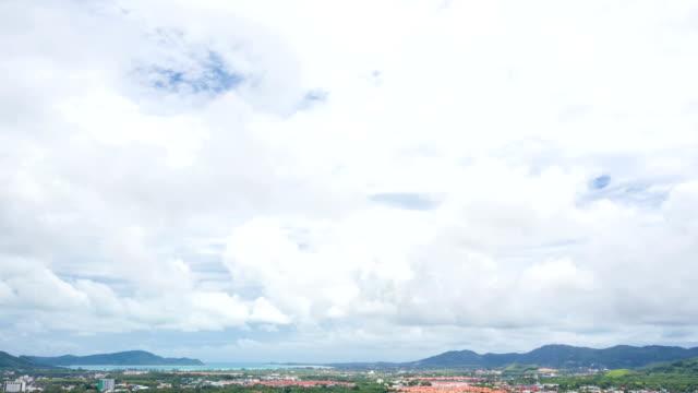 HD Timelapse: Cloudscape against Phuket Cityscape Thailand video