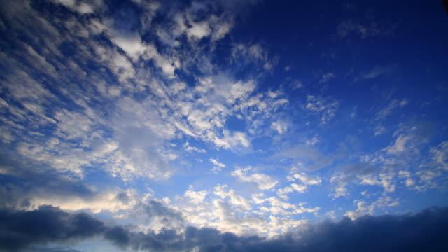 Time-lapse: Cloudscape on Blue Sky Backgrounds video
