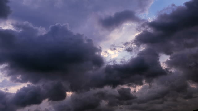 Timelapse cloudy sky at sunset - video