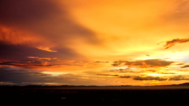 Timelapse colorful dramatic sky with cloud at sunset video