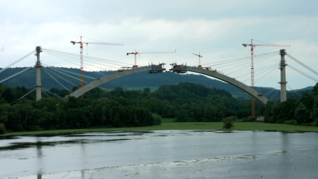 Timelapse construction a bridge