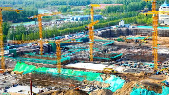 Time-lapse construction site Time-lapse construction site foundation make up stock videos & royalty-free footage