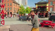 istock Time-lapse :Downtown District 1283222596
