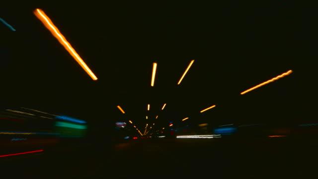 hd timelapse driving at night - high dynamic range imaging bildbanksvideor och videomaterial från bakom kulisserna