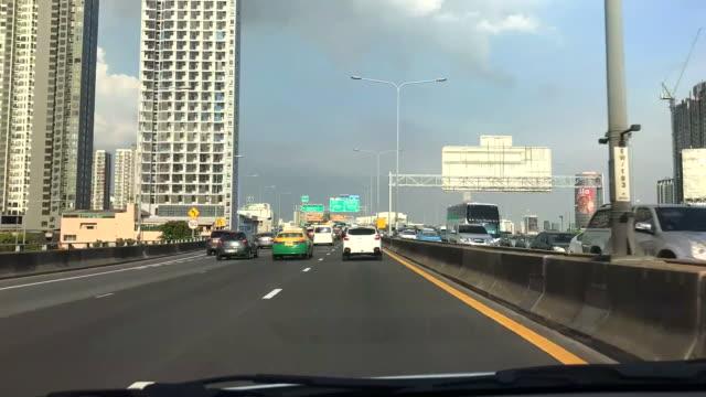 timelapse driving in Bangkok, Thailand