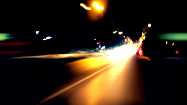 Timelapse - driving through a city video