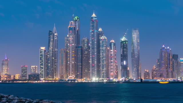 4K Timelapse Dubai day to night video