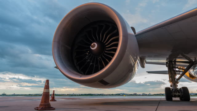 Time-lapse : Engine aircraft 4K Time-lapse : Engine aircraft turbine stock videos & royalty-free footage