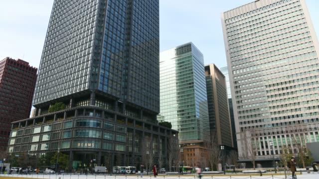 タイムラプス: 東京駅の金融街 - 経済点の映像素材/bロール
