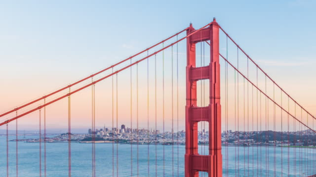 Time-lapse for Sunset at Golden Gate Bridge, San Francisco video