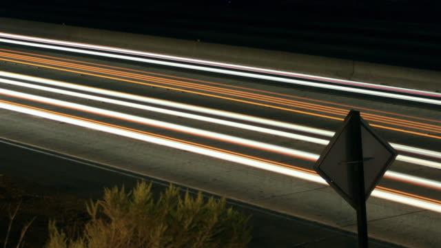 Time-lapse Freeway Traffic at Night video