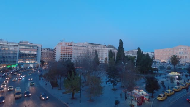 Timelapse from day to night - Athens, Greece, Syntagma Square video