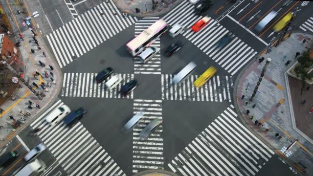 stockvideo's en b-roll-footage met time-lapse: ginza kruispunt, tokio, japan - dwarsweg