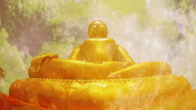 Time-lapse : Golden buddha video