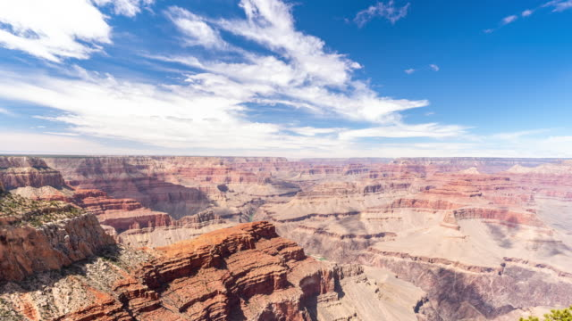 vídeos de stock e filmes b-roll de time-lapse grand canyon national park south rim in arizona usa - sul