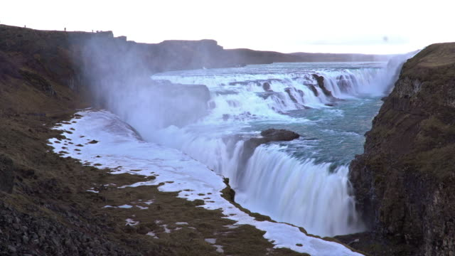 Time-lapse: Gulfoss Golden Falls waterfall Iceland video