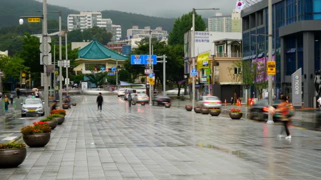 timelapse Haeundae street in Busan video