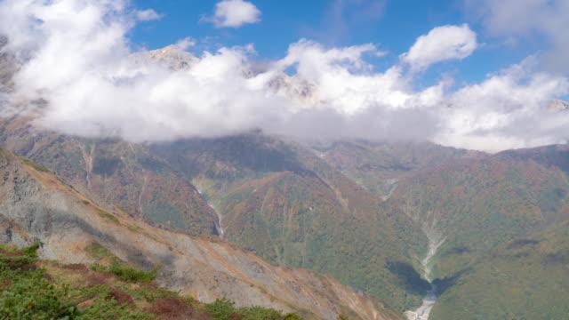 Time-lapse: Hakuba Mountain Range with Autumn Red Leave Nagano Japan video