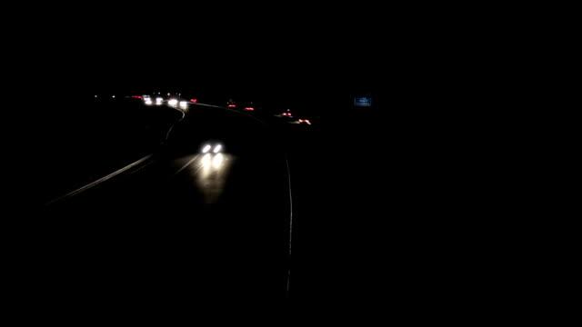 Timelapse Highway bei Nacht – Video