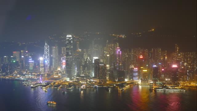time-lapse Hong Kong skyline video