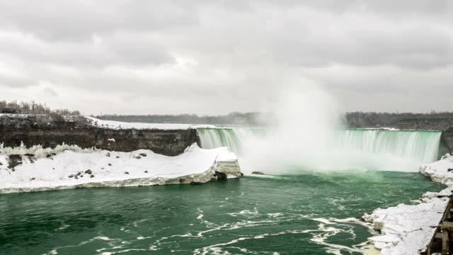 vídeos de stock, filmes e b-roll de definição de intervalo de tempo: horseshoe falls cataratas do niágara, ontário, canadá - rio niagara