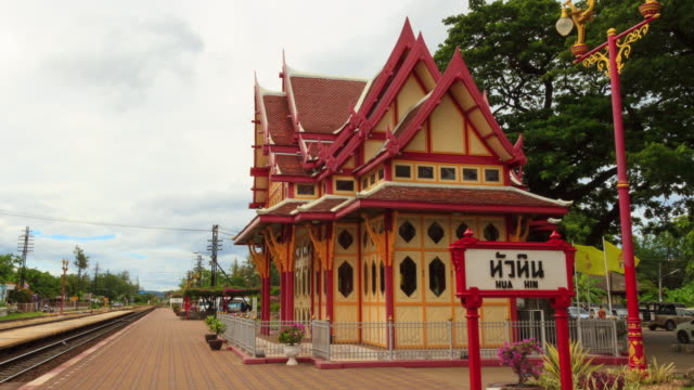 Time-lapse: Hua Hin Train Station, Thailand video