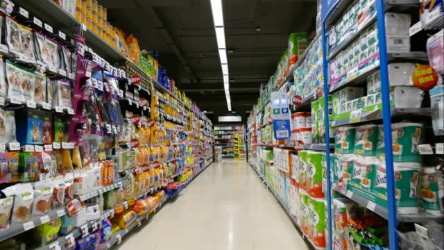 stockvideo's en b-roll-footage met time-lapse in supermarkt - shop sign