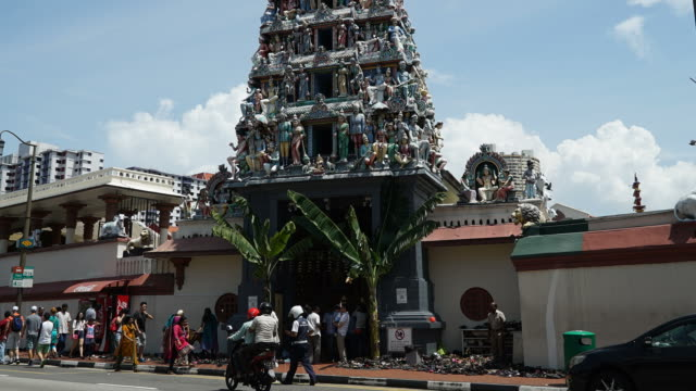 Timelapse india temple in singapore video