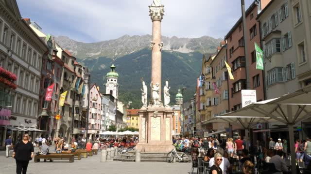 timelapse innsbruck centrum, österrike - delstaten tyrolen bildbanksvideor och videomaterial från bakom kulisserna