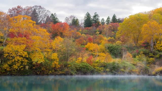 Time-lapse: Jigoku Numa Lake at Hakkoda Red Leave Forest, Aomori Japan video
