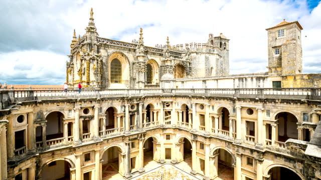 stockvideo's en b-roll-footage met hd time-lapse: knights templar convents of christ tomar, lisbon portugal - klooster