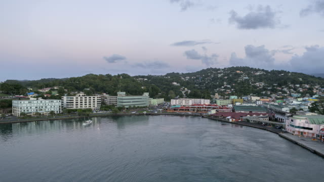 Timelapse leaving Port St Lucia Castries video