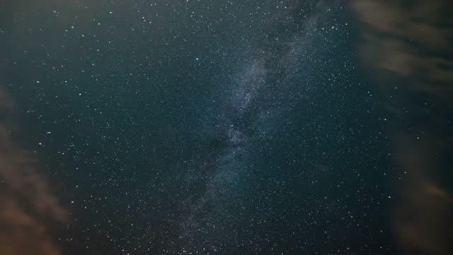 time-lapse. vintergatan i natten stjärnhimmel - himlen bildbanksvideor och videomaterial från bakom kulisserna