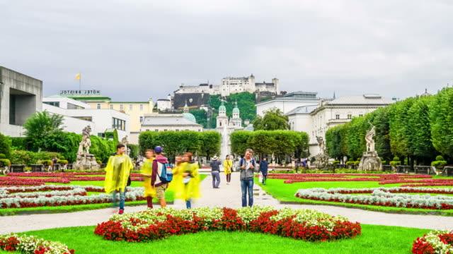 timelapse Mirabell Garden at Salzburg City