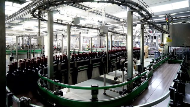 Timelapse motion of a Wine Factory in South France video