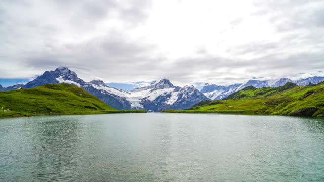 timelapse berg med bachalpsee i schweiziska - grindelwald bildbanksvideor och videomaterial från bakom kulisserna
