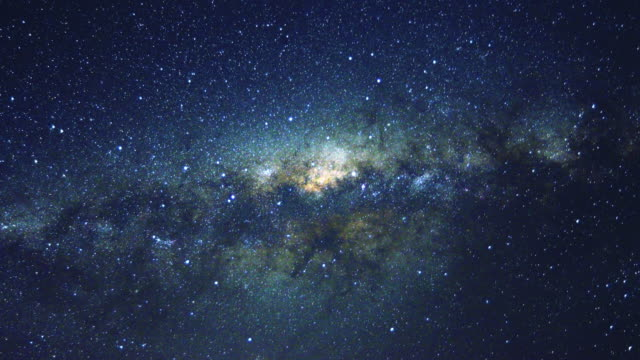 4k time-lapse: moving milky way - astronomia video stock e b–roll