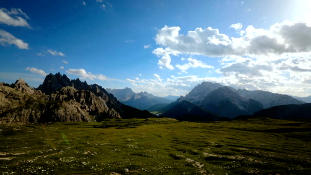 timelapse national nature park tre cime in the dolomites alps