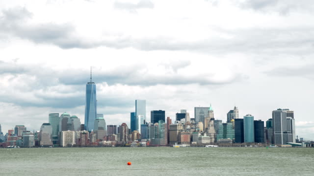 HD Time-lapse: New York City Cityscape from Liberty Island video