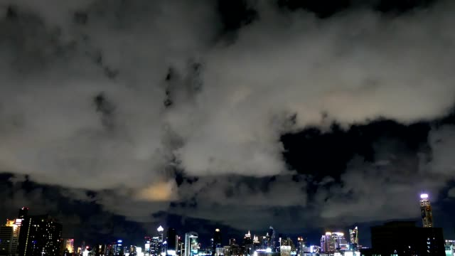 Timelapse night Bangkok city Footage of buildings in downtown area of Bangkok at night time. sunset to night time lapse stock videos & royalty-free footage
