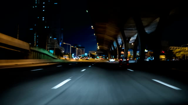 HD Timelapse : Night drive timelapse video