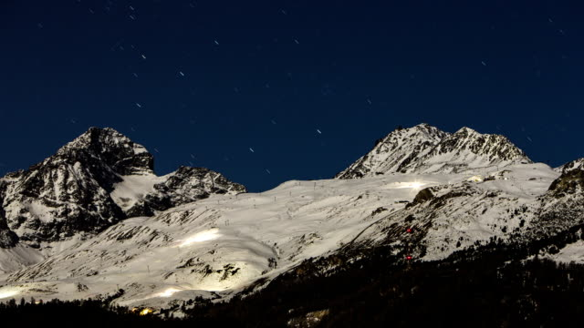 Timelapse night on the Swiss Alps video