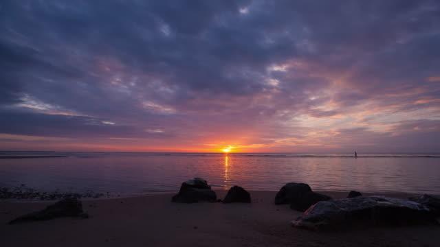 4K Timelapse Night to Day: Sunrise in morning. video