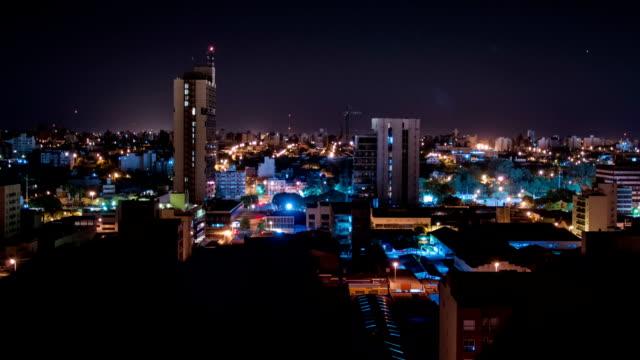 Timelapse nocturno de córdoba ciudad 2 video