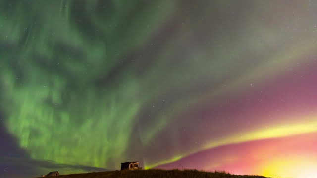 4K Time-lapse: Northern Light Aurora Borealis at Keflavik, Iceland, Apple ProRes 422 (HQ) 3840x2160 Format video