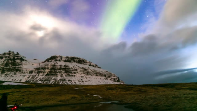 4K Time-lapse: Northern Light Aurora Borealis at Kirkjufell Iceland video